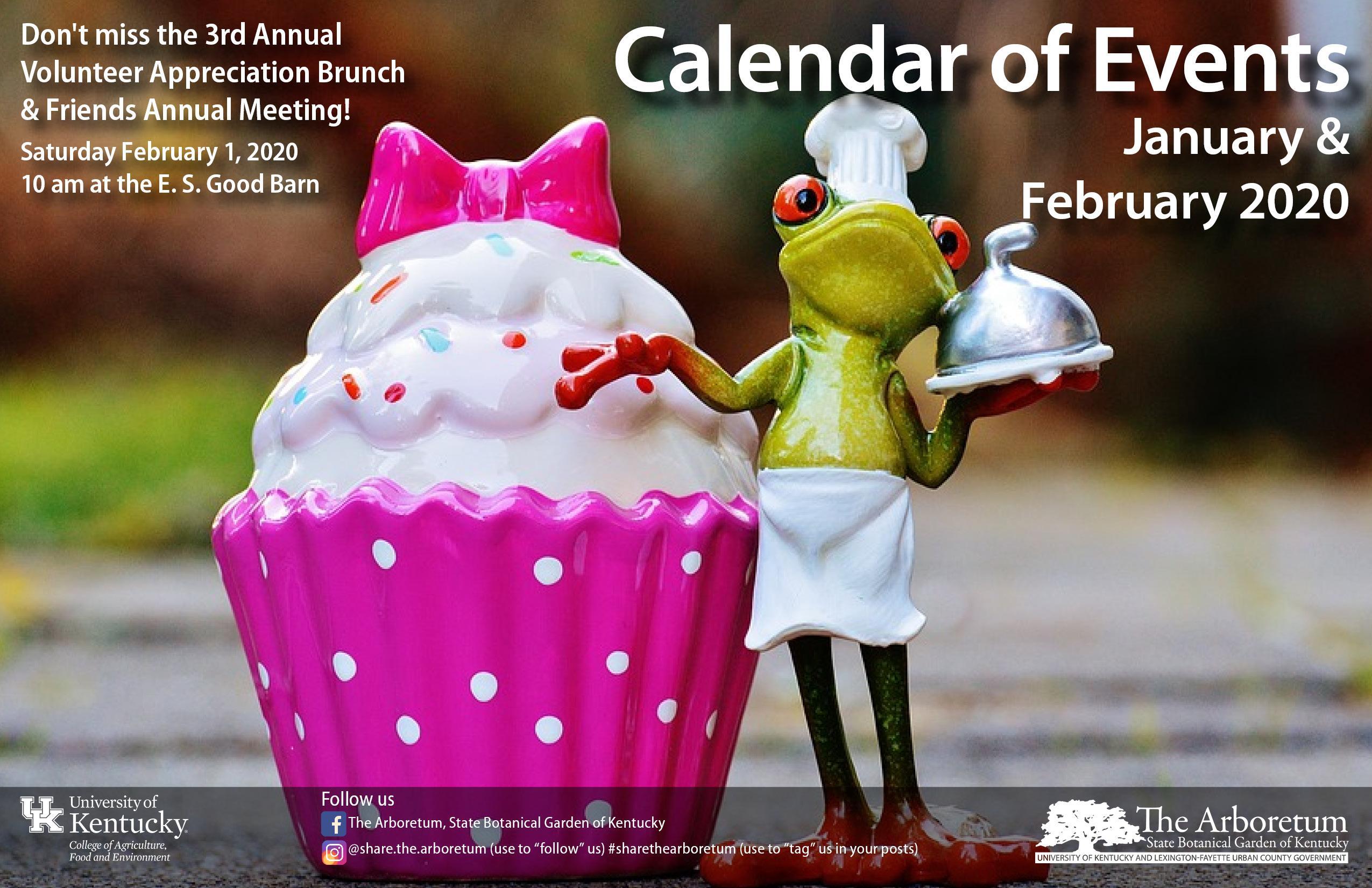 Jan Feb Calendar on a Card