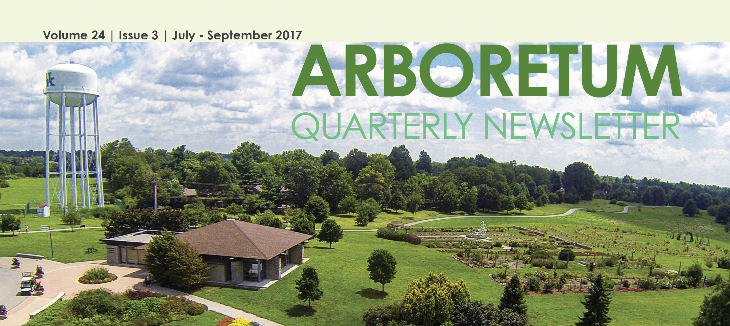 UK Arboretum July September 2017 Newsletter Cover Image