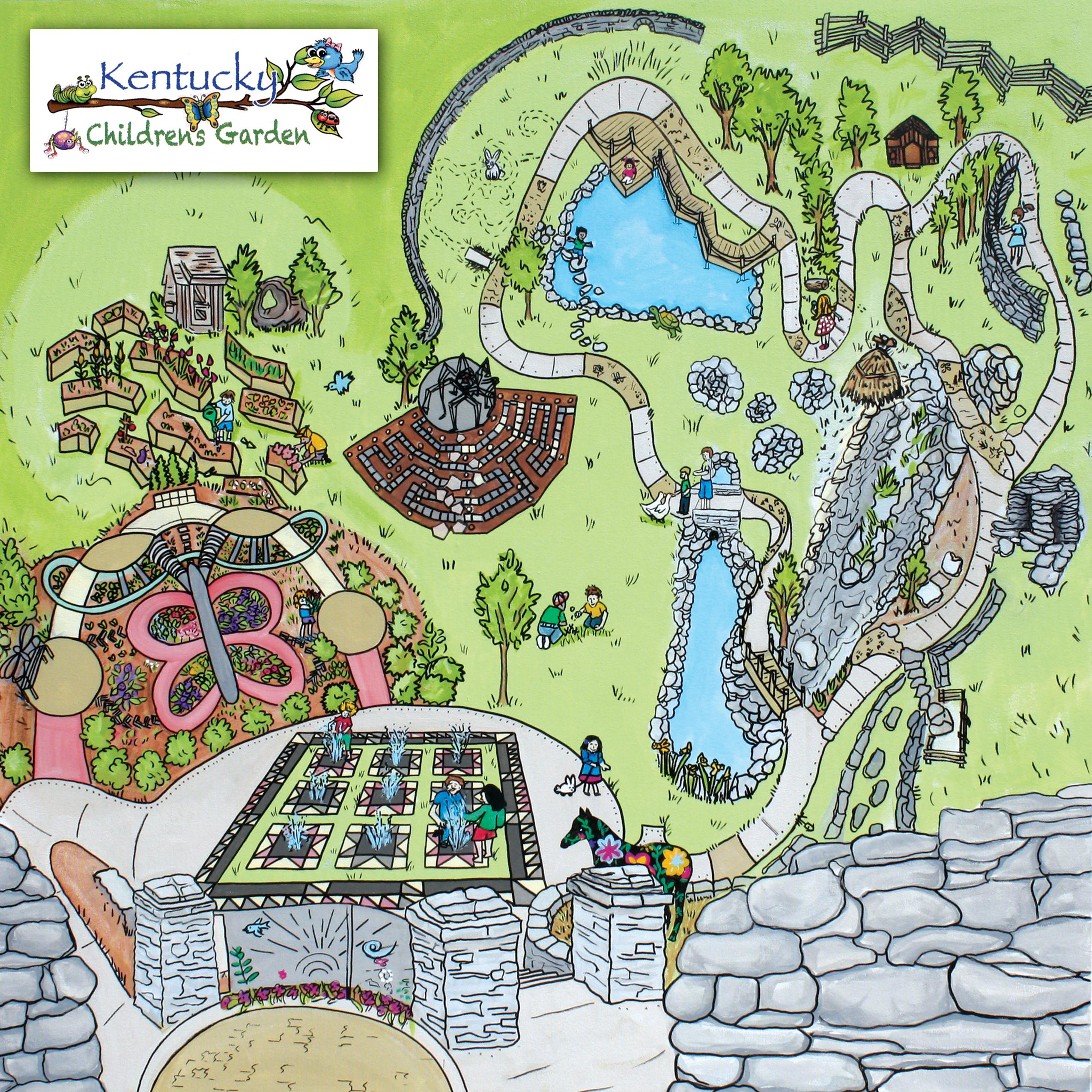 Kentucky children 39 s garden arboretum for Garden design map
