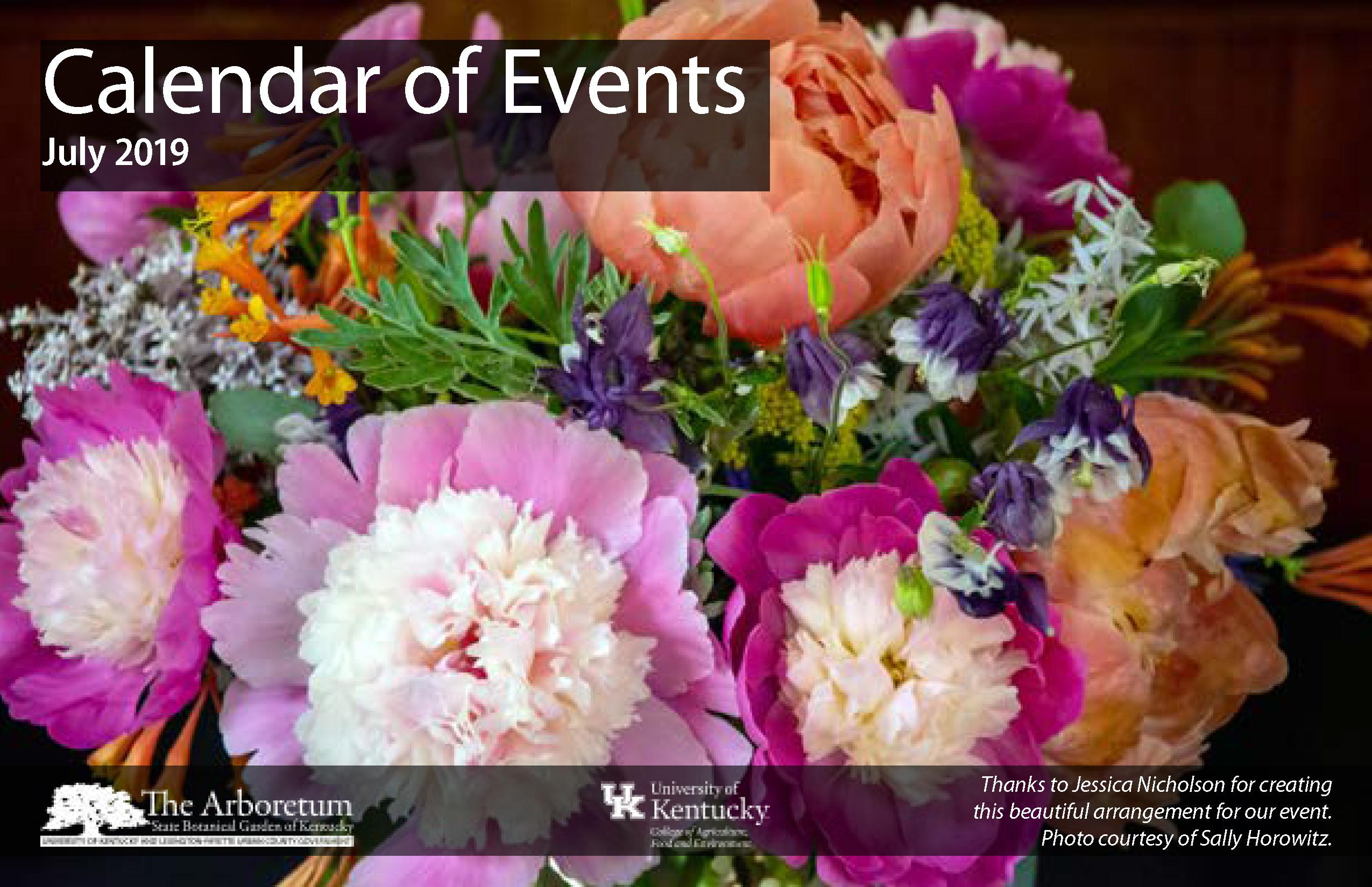 July 2019 Calendar of Events Cover
