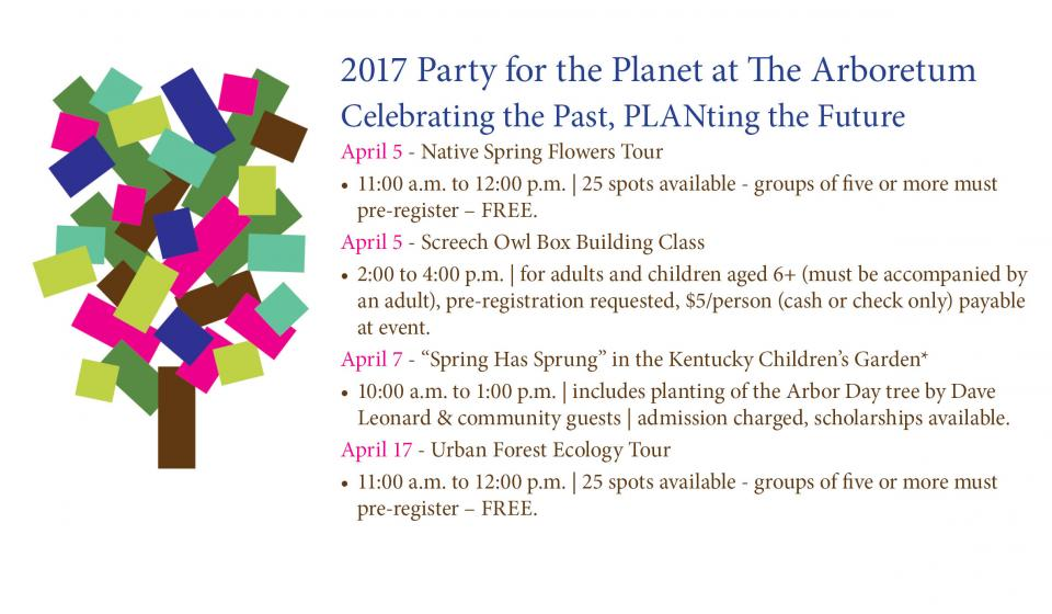 Party for the Planet- Check the Calendar tab for a schedule of events!